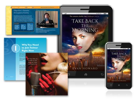 ebook design page and book cover design examples