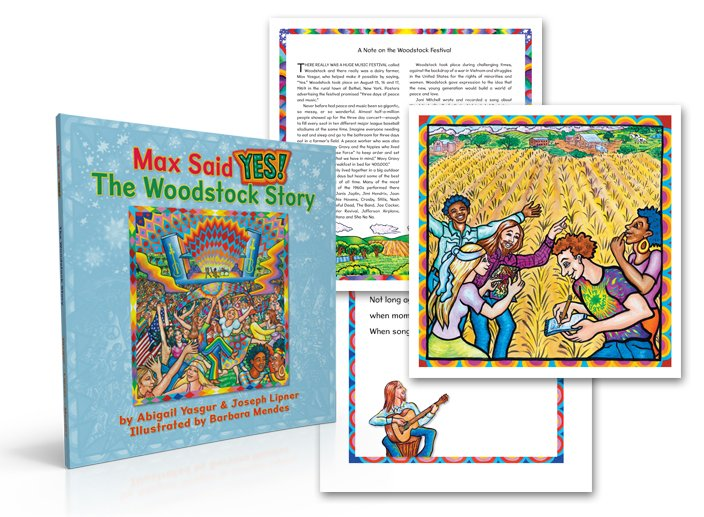 children's book page and bookcover design example