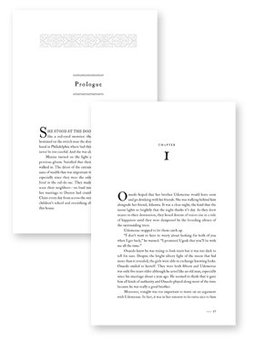 novel page design example
