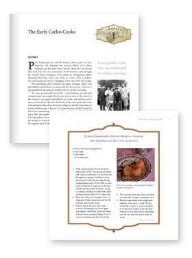 recipe book page design example