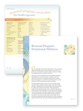 health book page design example