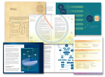 Book table and diagram design examples