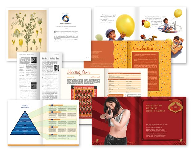page layout design examples