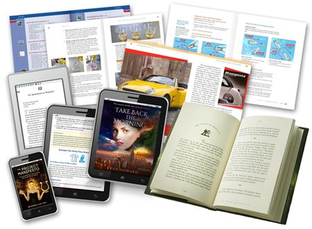 Book page and bookcover design examples