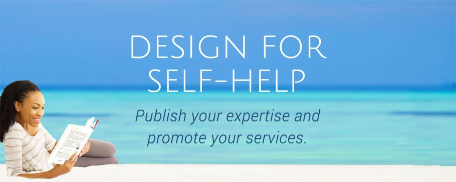 self-help book design banner image