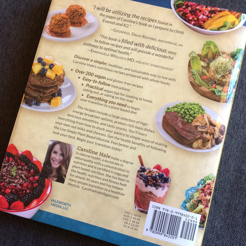 cookbook back cover design