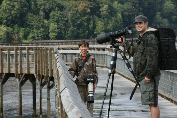 Aaron and Lorenzo at Nisqually National Wildlife Refuge
