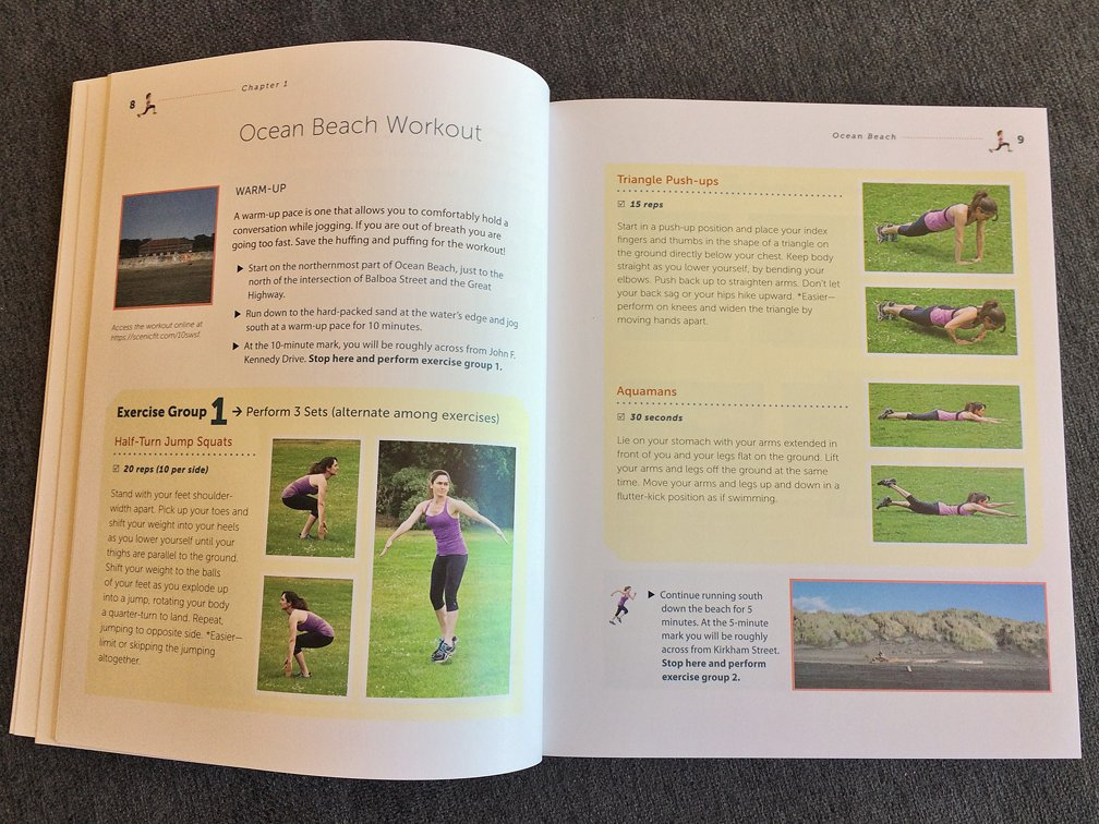 Page designs for Scenic Fit exercise book