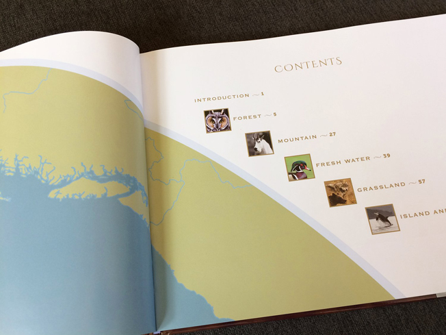 Page design for Pacific Northwest Wildlife book